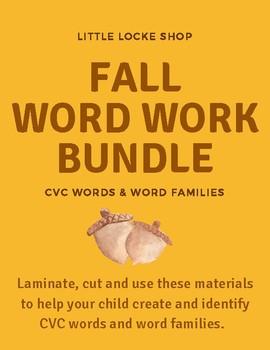 Free Fall Word Work Bundle