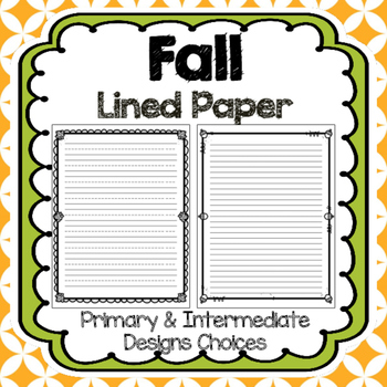 Free Fall Writing Paper