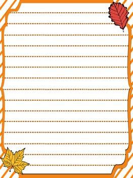 Free Fall Writing Template