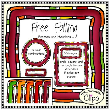 Free Falling - Frame and Header Clip Art Collection