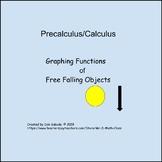 Free Falling Objects - Calculus I plus Webquest Activity