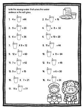Free Farm Multiplication Worksheets