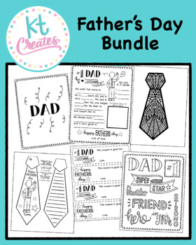 Free Father's Day Gift Bundle - No Prep {KT Creates}
