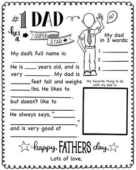 Father's Day Gift Bundle - No Prep {KT Creates}