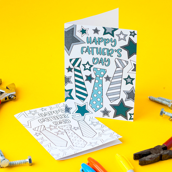 Free Father's Day Coloring Card | Printable gift card for dad for Father's Day