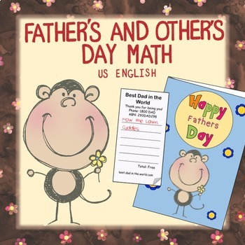 Free Father's Day Math NO PREP US