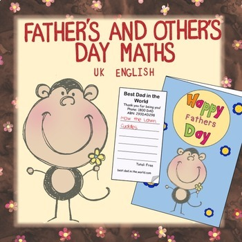 Free Father's Day Maths NO PREP AUS UK