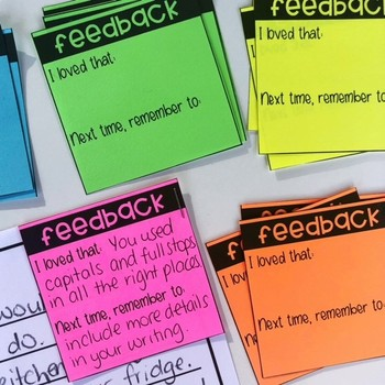 Free Feedback Slips for Student Work