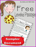 Free Fiction Leveled Passage (Organized By Lexiles/Guided