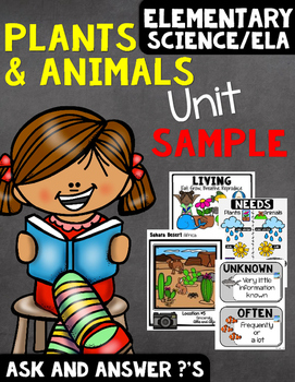 Free Fiction Unit Plants and Animals