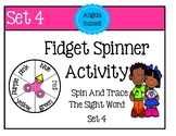 Free Fidget Spinner Activity - Trace The Sight Word Set 4