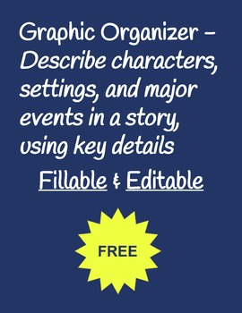 Free Fillable and Editable Graphic Organizer - Common Core Reading