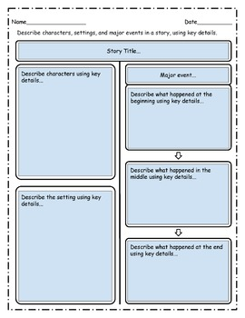 Free Fillable and Editable Graphic Organizer - Common Core