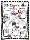 Free - Find Someone Who... Back to school getting to know you activity
