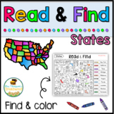Free U.S. Geography Find the States Activity