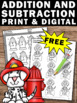 Free Fire Safety Activities Kindergarten Addition and Subtraction Worksheets