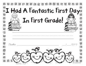 First Day of Kindergarten and First Grade Awards - Free