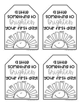 Free First Day of School Gift Tag