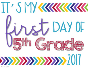 Free First Day of School Poster Signs for Back to School