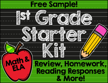 Free First Grade Back to School Printables: Math & ELA