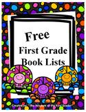 First Grade Book List