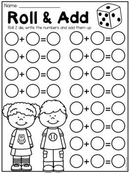 Free First Grade Math Worksheets by My Teaching Pal | TpT