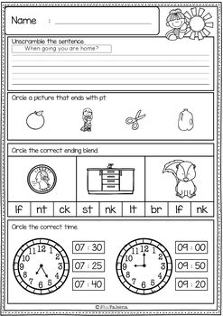 Juicy image with 3rd grade morning work printable