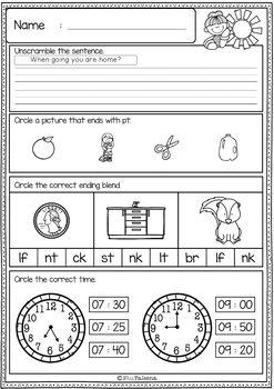 Crush image intended for 3rd grade morning work printable