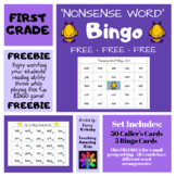 "Free: First Grade ""Nonsense Word"" Bingo (Journeys)"