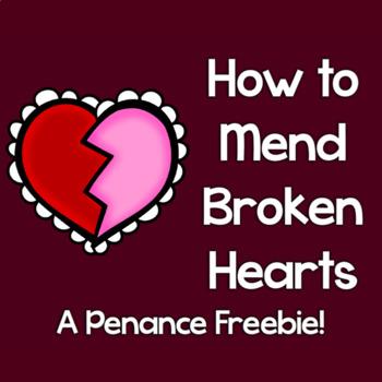 Free!  First Penance How to Fix a Broken Heart Activity