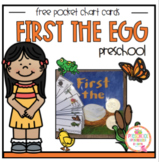 Free First the Egg Pocket Chart Cards