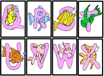 Free Fish Alphabet Cards
