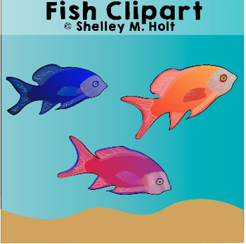 Free Fish Clipart with Ocean Background