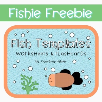 free fish templates for worksheets flashcards by courtney keimer