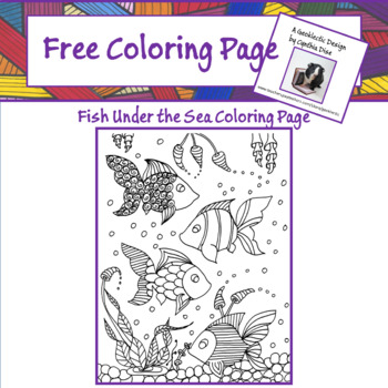 Free Fish Under the Sea Coloring Page