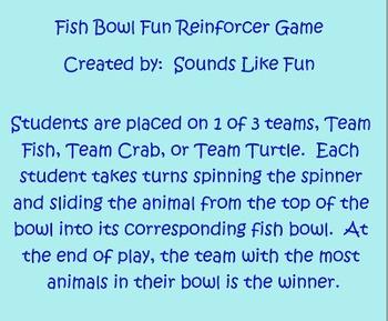 Smartboard Reinforcement Game FREE: Fishbowl Fun