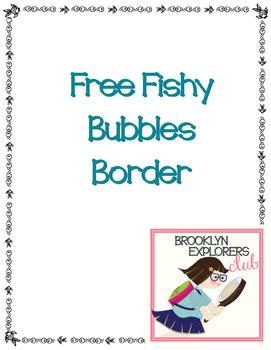 Free Fishy Bubbles Border