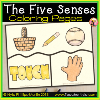 Free Five Senses Coloring Pages By Nyla S Crafty Teaching Tpt Five Senses Free Coloring Pages