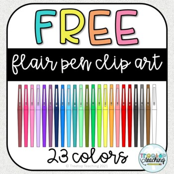 free flair pen clip art by treetop teaching teachers pay teachers free flair pen clip art