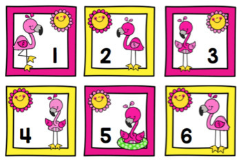 Free Flamingo Number Cards