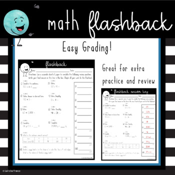 Free Flashback 5th Grade Math Spiral Review