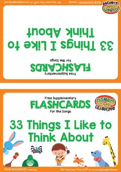 "Free Flashcards ""33 Things I Like"" 
