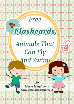 Free Flashcards Animals That Can Fly And Swim!