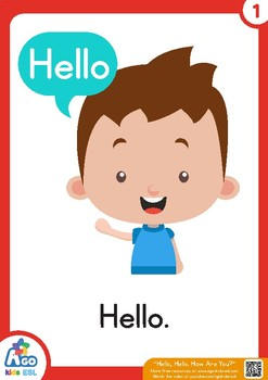 free flashcards for the song hello hello how are you tpt