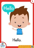 "Free Flashcards for the song, ""Hello, Hello. How Are You?"""