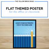 Free Flat Themed Poster for the Classroom or Home Office