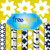 Free Floral,Snowflakes,Lines and Square Digital Papers in