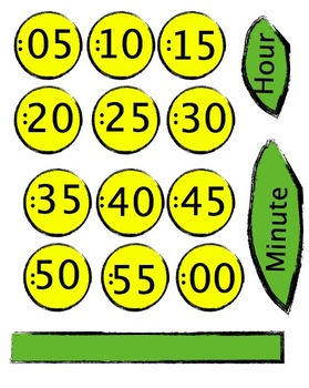Free Flower Clock Template to decorate your classroom clock by Evil ...