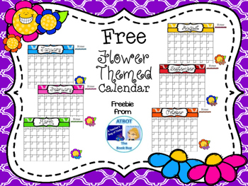 Free Flower Themed Calendar