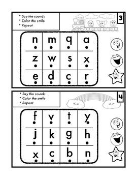 Free Fluency Alphabet card